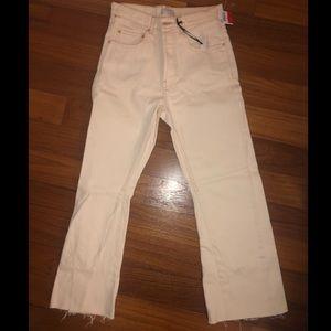 Zara premium denim off-white jeans